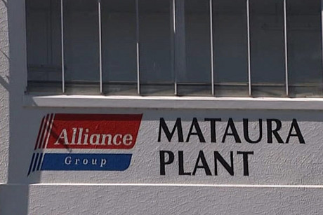 The Mataura meat processing plant