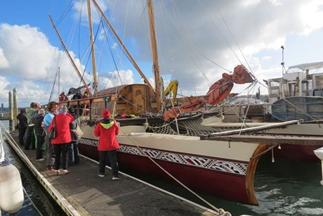 The waka sailed out of Auckland in August  (Photo: Imogen Crispe)