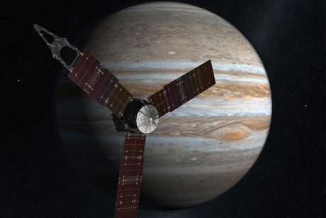 Artist's impression of Juno heading to Jupiter