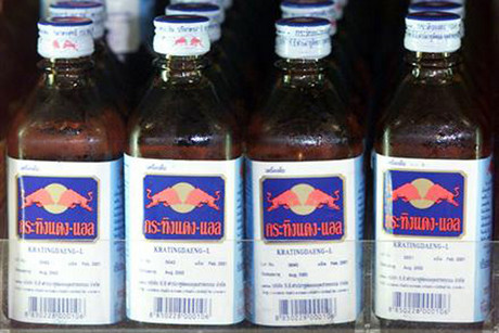 Bottles of Krating Daeng, an original Thai version of the popular drink Red Bull, in a store in Bangkok (Reuters)