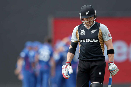 Brendan McCullum dejected after being dismissed (Photosport)