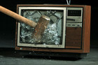 Old television sets contain such toxic substances as lead, mercury and phosphorous (file pic)