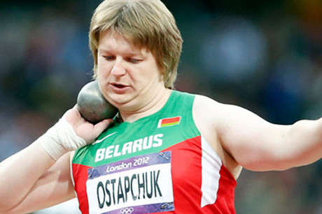 Belarussian athlete Nadzeya Ostapchuk (Reuters file)