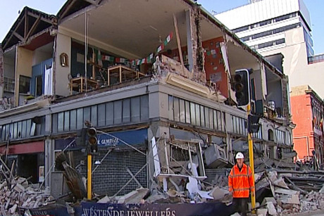 Westende Jewellers' central city shop crumbled in the September quake