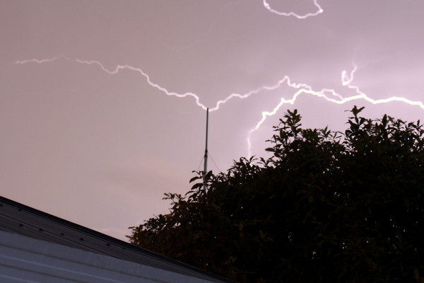 Lightning over Parklands, Christchurch (Photo: Angela Wilson)