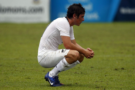 All Whites Marco Rojas following the final whistle. OFC Nations Cup 2012, Semi Final New Zealand v New Caledonia (Photosport)