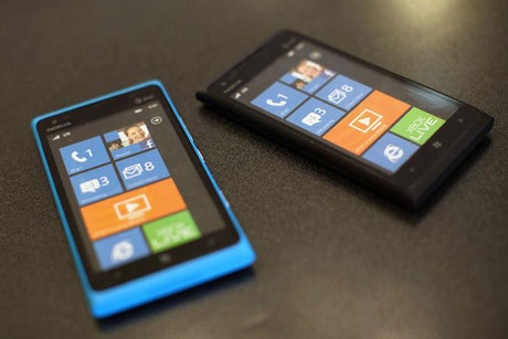Nokia Lumia 900 cell phones (Reuters)