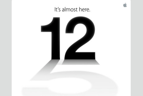 Screenshot from Apple's invitation