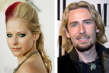 Avril Lavigne and Chad Kroeger (AAP)