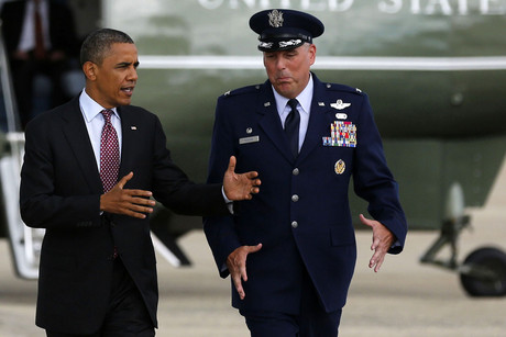 President Barack Obama prepares to depart Joint Base Andrews for the 2012 Democratic National Convention (Reuters)