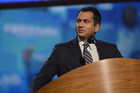 Kal Penn speaks at the Democratic National Convention (AAP)