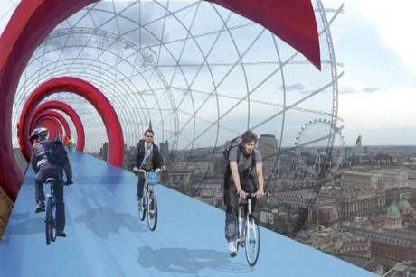 Sam Martin wants to build a cycle lane in the sky over London