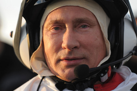 Vladimir Putin, about to take to the skies (Reuters)