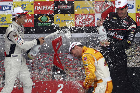 Power and Hunter-Reay have both tasted podium success this year (file pic)
