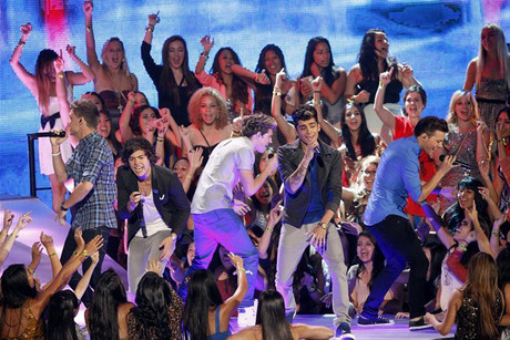 One Direction performing at the MTV VMA Awards  (Reuters)