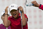Lydia Ko of New Zealand is doused with water by fellow players after winning the LPGA Canadian Women's Open (Reuters)