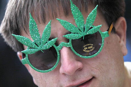 A marijuana campaigner in Boulder, Colorado (Reuters)