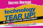 Screenshot from a Harvey Norman advert