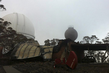 Damage to the Siding Spring Observatory in the Warrumbungle National Park, NSW (AAP / NSW Rural Fire Service)