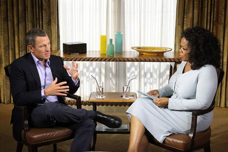 Lance Armstrong and Oprah Winfrey (Getty) 
