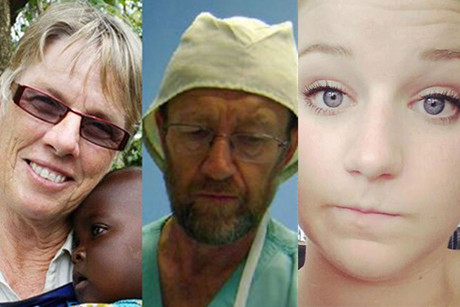 The New Zealand victims of the crash - Grace Johnston, Brian Johnston and Caitlin Dickson