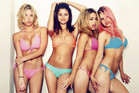 Ashley Benson, Selena Gomez, Vanessa Hudgens and Rachel Korine in Spring Breakers