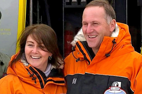 Prime Minister John Key and wife Bronagh in Antarctica
