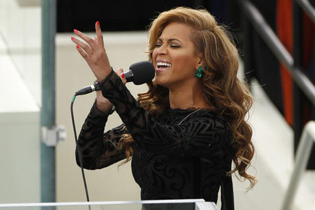 Beyonce sings at US President Barack Obama's inauguration (Reuters)