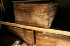 The crates remained on ice for 100 years