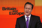 UK Prime Minister David Cameron speaking about Britain and Europe (Reuters)