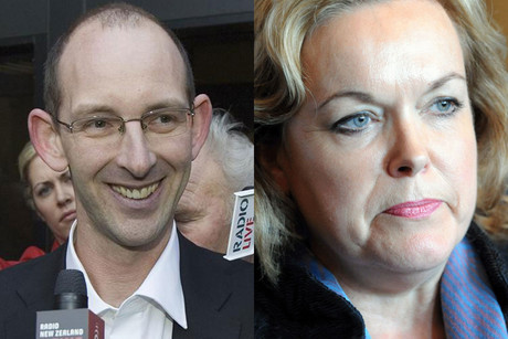 David Bain and Justice Minister Judith Collin