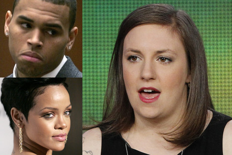 Lena Dunham, Chris Brown and Rihanna (Photos: Reuters)