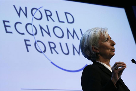 nternational Monetary Fund chief Christine Lagarde addresses the annual meeting of the World Economic Forum in Davos 