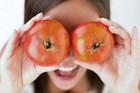 The research found a strong day-to-day relationship between more positive mood and higher fruit and vegetable consumption (file)