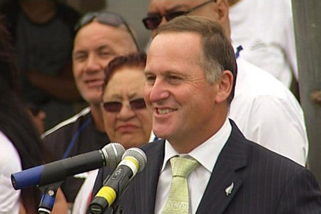 John Key speaking at Ratana today