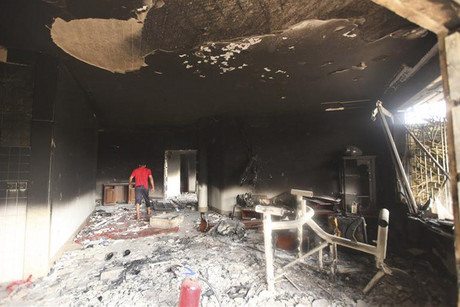 The US Consulate after it was attacked in September 2012 (Reuters file)