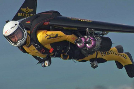 Jetman in full flight
