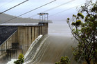 Supplied facebook image of the Awoonga Dam overflows in Gladstone, Queensland (AAP)