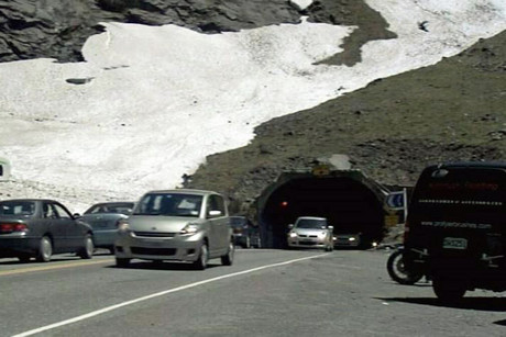 Fiordland's Homer Tunnel has been closed to traffic every night since mid-December because of the danger of rock falls