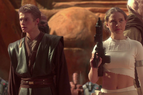 Hayden Christensen and Natalie Portman in Attack of the Clones