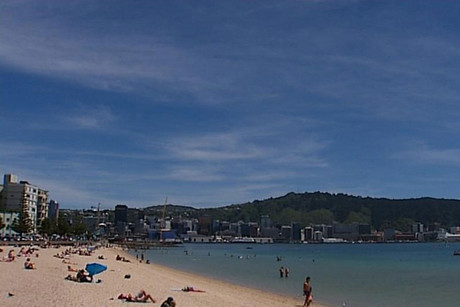 Wellingtonians make the most of the warm weather