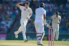 Australia's Jackson Bird celebrates the wicket of Sri Lanka's Suranga Lakmal in Sydney (AAP)