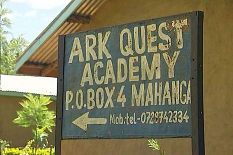 The students were in Kenya to work at the Ark Quest Education Centre