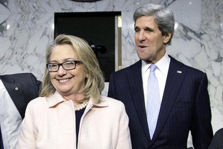 Hillary Clinton (L) and John Kerry (R) (Reuters file)