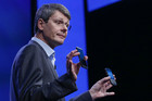 Research in Motion president and chief executive officer Thorsten Heins introduces new RIM Blackberry 10 devices (Reuters)