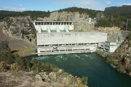 The Ohakuri Dam on the Waikato River - operated by Mighty River Power