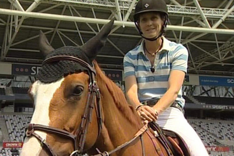 Show jumper Samantha McIntosh is taking part in the event