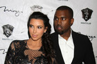 Kim Kardashian and Kanye West (AAP)