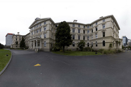 Panoramic view of Wellington's old Government Buildings (Wikipedia)