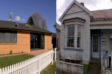 The south Auckland house on the left sold for $500,000 and the Grey Lynn house on the right sold for $1.2 million